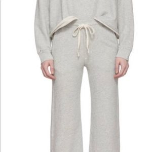 New with tags. AMO wide leg cropped sweatpants